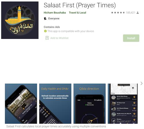 Salaat First (Android) Screenshot